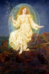 Lux in Tenebris, 1895 by Evelyn De Morgan