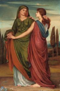 Naomi and Ruth, 1887 by Evelyn De Morgan