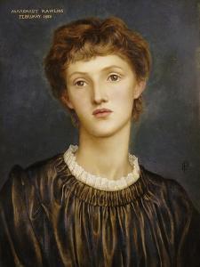 Portrait of Margaret Rawlins, 1883 by Evelyn De Morgan