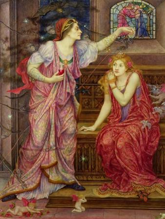 Queen Eleanor and Fair Rosamund by Evelyn De Morgan