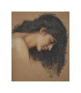 Study of a Female Head by Evelyn De Morgan