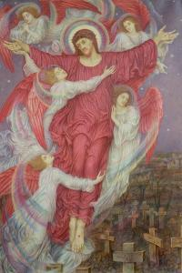 The Red Cross (Allegory of Flanders War Graves), c.1916 by Evelyn De Morgan