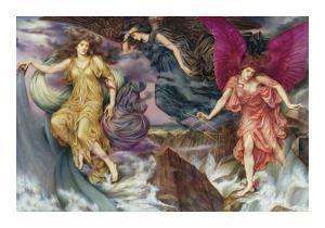 The Storm Spirits by Evelyn De Morgan