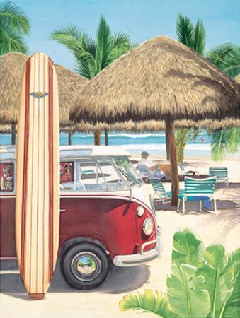 Van, Surf and Sand by Evelyn Jenkins-Drew