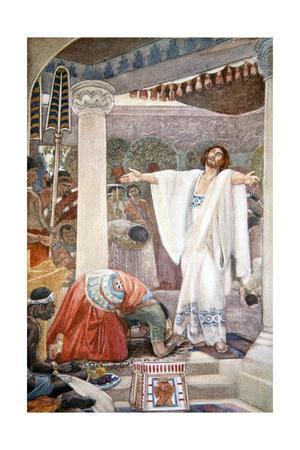 Daniel interprets the dream of Nebuchadnezzar', 1916