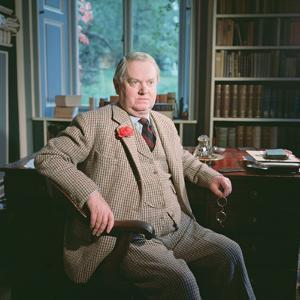 Evelyn Waugh, in His Study at Combe Florey, 1963