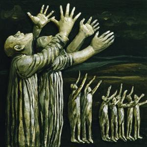 Couple Reaching Up, 1981 by Evelyn Williams