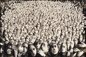 Crowd, 1978 by Evelyn Williams