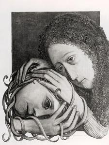 """(Emma with Snakes Hair """"Consoling Heads"""", 1975 by Evelyn Williams"""