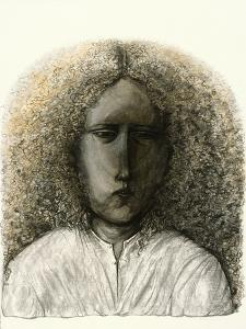 Girl with Curly Hair, 1985 by Evelyn Williams