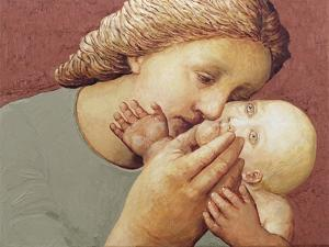 Mother and Baby II, 1998 by Evelyn Williams