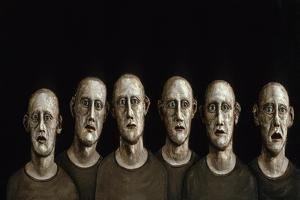 Portrait of an Anxious Man, 1986 by Evelyn Williams