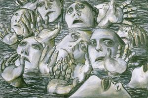 Sea of Faces 2, 1984 by Evelyn Williams