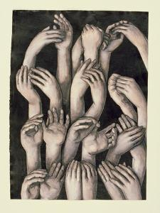 Studies of Hands 1, 1986 by Evelyn Williams