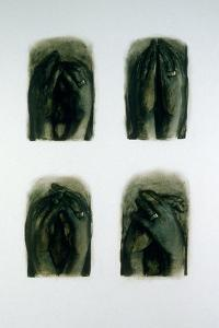"""Studies of """"Hands into Wedding Ring"""", 2007 by Evelyn Williams"""