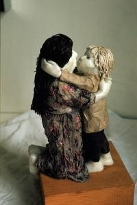 """Study for """"Embracing Mother and Child"""", 1976 by Evelyn Williams"""
