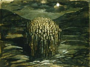 """Study for """"Waiting for the Day"""", 1979 by Evelyn Williams"""