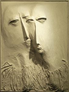 Two White Heads, 1961 by Evelyn Williams