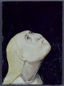 Woman Looking Up, 1978 by Evelyn Williams
