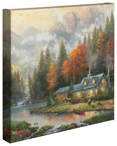 Evening at Autumn Lake-Thomas Kinkade-Gallery Wrapped Canvas