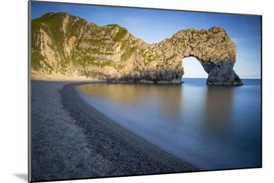 Evening at Durdle Door Along the Jurassic Coast, Dorset, England-Brian Jannsen-Mounted Photo