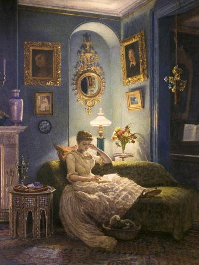 Evening at Home-Edward John Poynter-Giclee Print