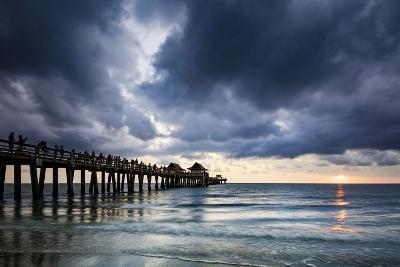 Evening at Naples Pier, Naples, Florida, Usa-Brian Jannsen-Photographic Print
