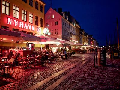 Evening at Nyhavn, Copenhagen, Denmark, Scandinavia, Europe-Jim Nix-Photographic Print