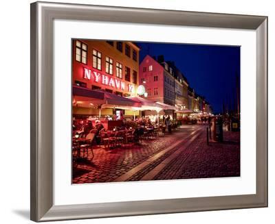 Evening at Nyhavn, Copenhagen, Denmark, Scandinavia, Europe-Jim Nix-Framed Photographic Print