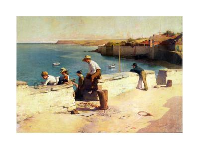 Evening at Padstow, 1890-Sir Samuel Henry William Llewelyn-Giclee Print