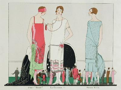 Evening at the Casino, Fashion Plate from 'Art, Gout, Beaute', Pub. Paris, 1920's--Giclee Print
