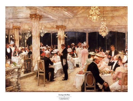 Evening at the Plaza-Henry Gervex-Art Print