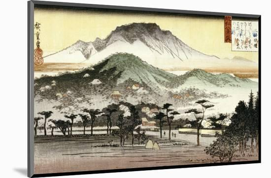 Evening Bell at Mii Temple-Ando Hiroshige-Mounted Premium Giclee Print