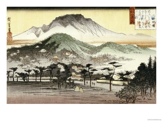 Evening Bell at Mii Temple-Ando Hiroshige-Giclee Print