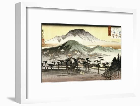 Evening Bell at Mii Temple-Ando Hiroshige-Framed Giclee Print