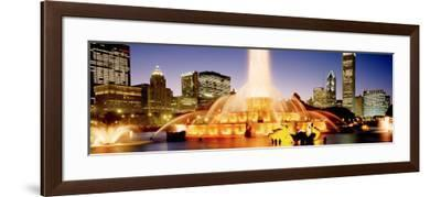 Evening, Buckingham Fountain, Chicago, Illinois, USA--Framed Photographic Print