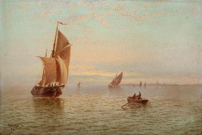 Evening, Coastal Scene, 1892-Thomas Lucop-Giclee Print
