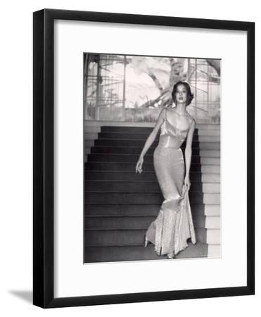Evening Dress Designed by a California Designer-Gordon Parks-Framed Premium Photographic Print