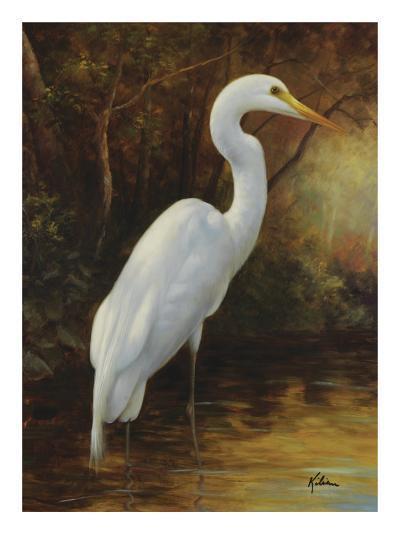 Evening Egret-Kilian-Art Print