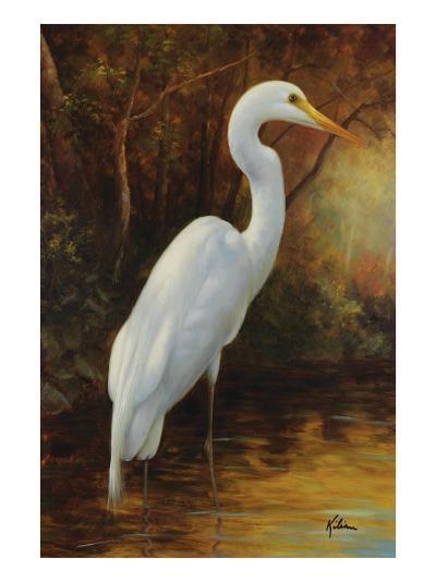 Evening Egret-Kilian-Premium Giclee Print
