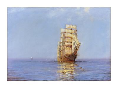Evening Gold - The 'Antiope'-Montague Dawson-Premium Giclee Print