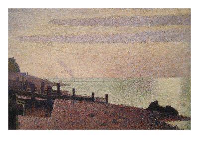 Evening, Honfleur-Georges Seurat-Art Print