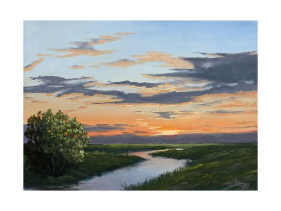 Evening Hue of Orange-Julie Peterson-Art Print