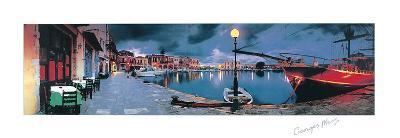 Evening in Greece-George Meis-Art Print