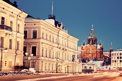 Evening in Helsinki - View from Market Square-benkrut-Photographic Print
