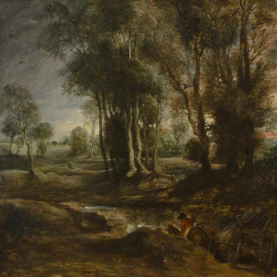 Evening Landscape with Timber Wagon, 1630-1640-Peter Paul Rubens-Giclee Print