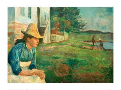 Evening. Laura, The Artist's Sister, 1888-Edvard Munch-Giclee Print