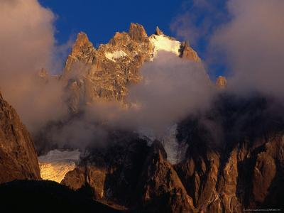 Evening Light and Cloud on Chamonix Aiguilles, Chamonix Valley, Rhone-Alpes, France-Gareth McCormack-Photographic Print