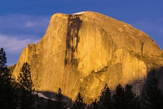 Evening light on Half Dome, Yosemite National Park, California, USA.-Russ Bishop-Photographic Print