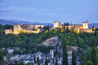 Evening Lights from the Alhambra Palace-Terry Eggers-Photographic Print